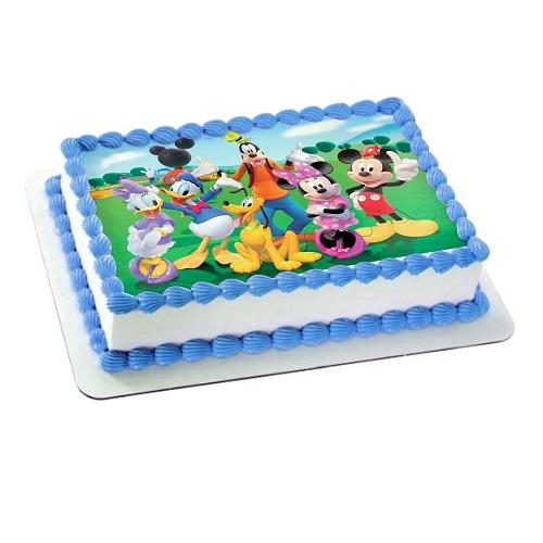 Cartoon Photo Cake