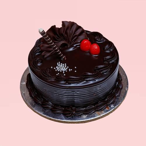 Dark Chocolate Truffle Cake
