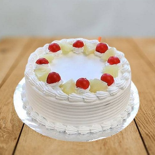 Delicious Pineapple Cake with Cherry Topping