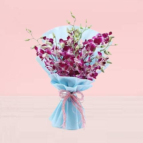 Fancy Purple Orchids Bouquet