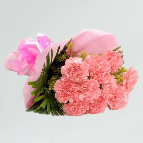 Lovely Pink Carnation Bouquet