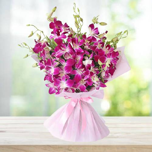 Lovely Pink Orchids Bunch