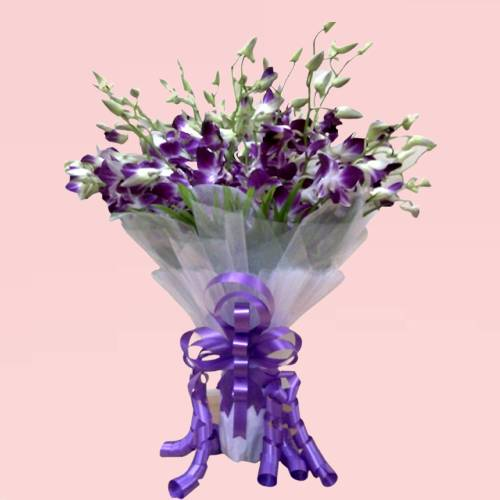 Purple orchids Elegant Bunch