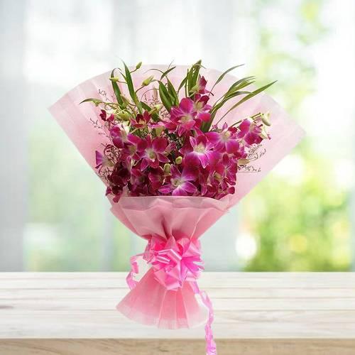 Royal Purple Orchids Bouquet