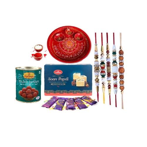 Brothers Raksha Bandhan Special 5 Rakhi With Sweets