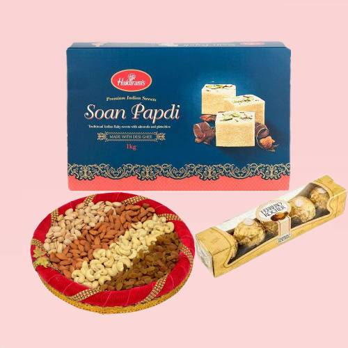 Combo Of Dry Fruit with Sweets Hampers
