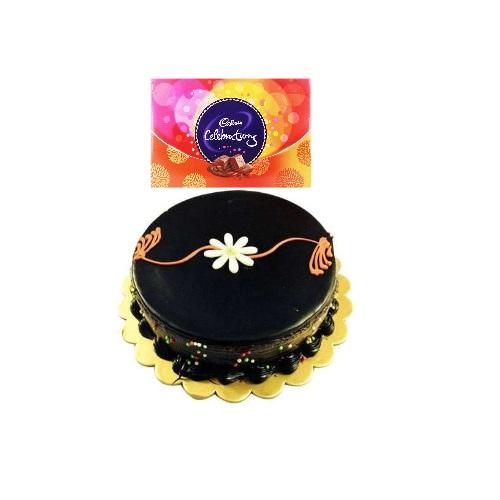 Dark Chocolate Cake and Celebration Pack Raksha Bandhan Special