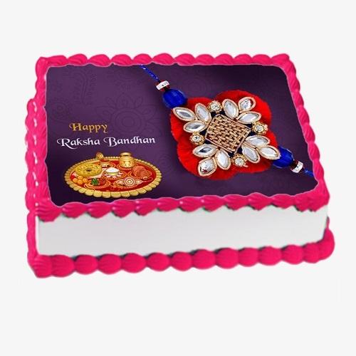Photo Cake Rakhi Gifts For Sister