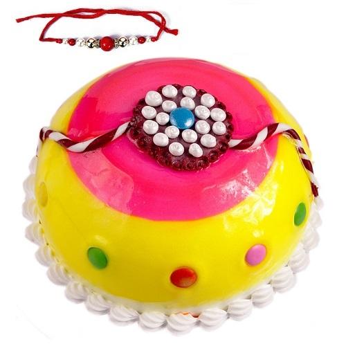 Rakhi Special Dome Shaped Pineapple Cake