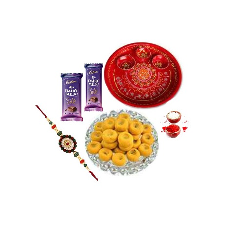 Rakhi Special Pooja Thali With Sweets