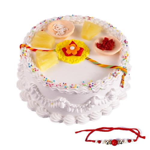 Raksha Bandhan Special Pineapple Cake