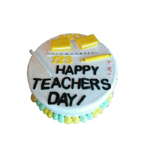 Happy Teachers Day Special Vanilla Cake