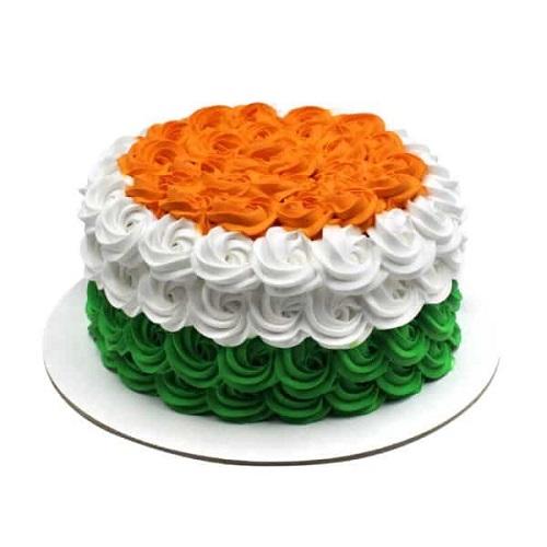 Independence Day Special Design Rose Cake