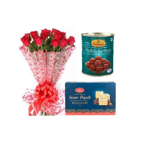 Special Sweets and Stylish Bouquet