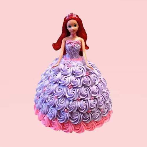 Princess Rosy Barbie Cake