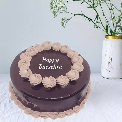 Dussehra Special Delicious Chocolate Truffle Cake