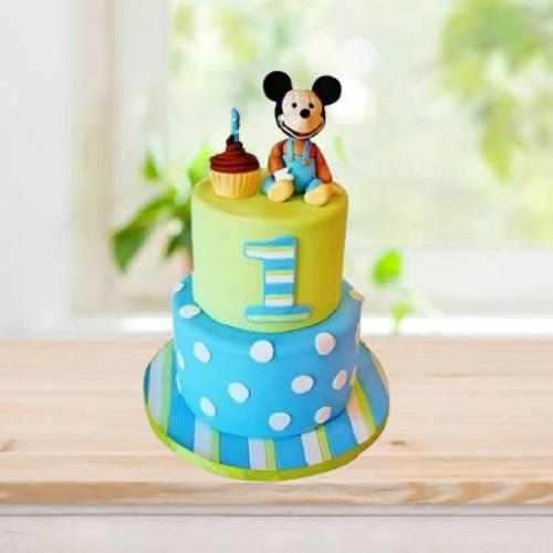 2 Tier Mickey Mouse Cartoon Cake