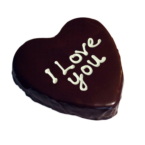 I LOVE U Heart Chocolate Cake