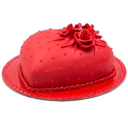 Delight Red Heart Cake