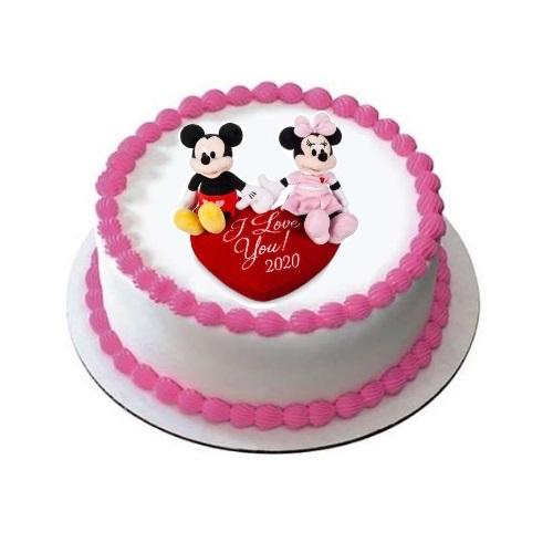 Valentine Special Photo Cake