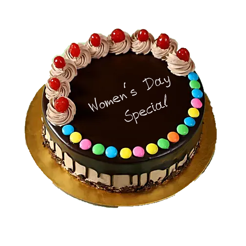 Delicious Chocolate Gems Cake Womens Day Special