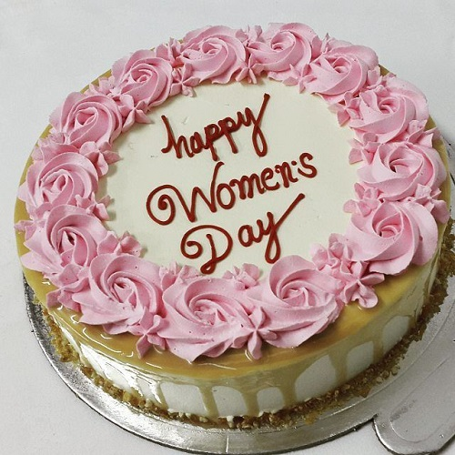 Women's Day Special Delicious Caramel Cake