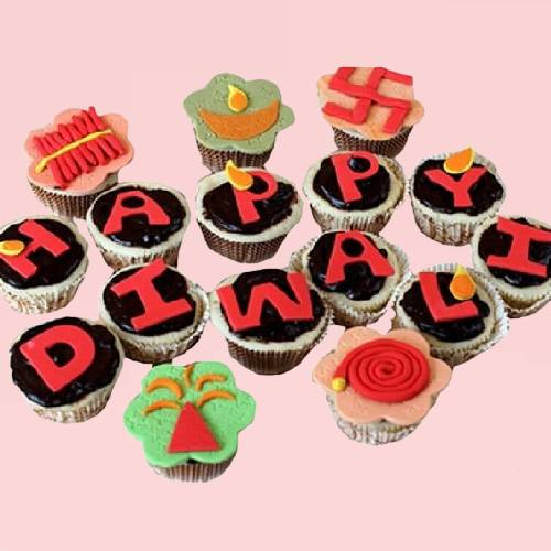 Party Diwali Theme Cup Cakes