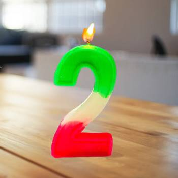 2 Number Birthday Candle