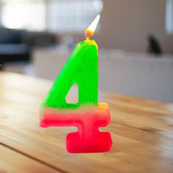 4 Number Birthday Candle