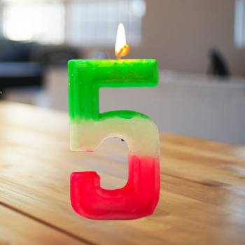 5 Number Birthday Candle