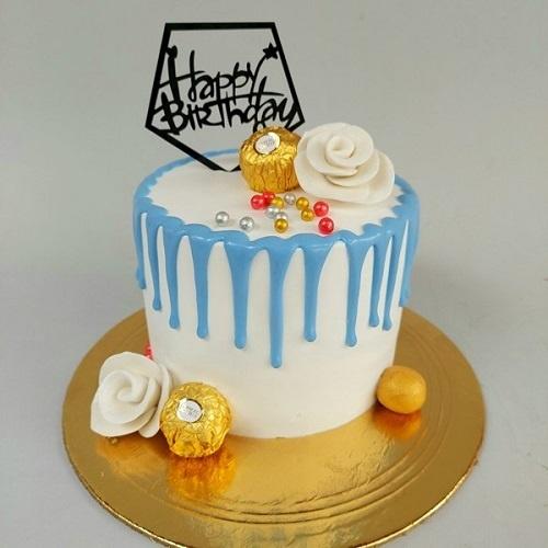 vanilla design cake