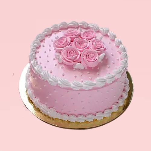 Beauty In Pink Rose Cake