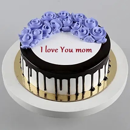 Mothers day Special Black Forest Cake Roses design On Top