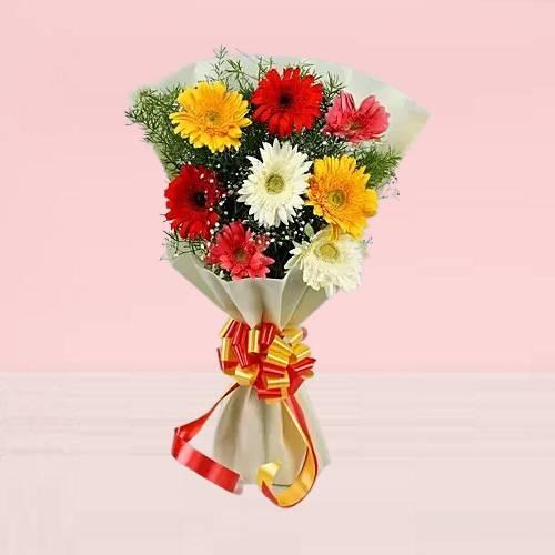 Blossoms Mixed Gerberas Bouquet