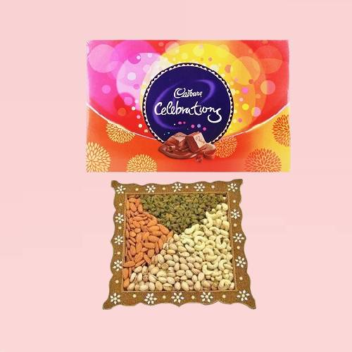 Combo Of Dry Fruits with Celebrations Pack