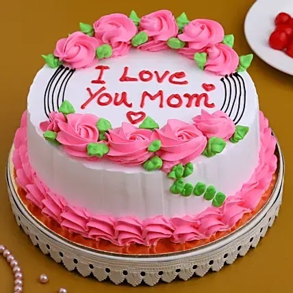 I Love U Mom Cake mothers day special