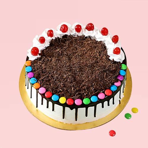Delicious Chocolate Gems Cake