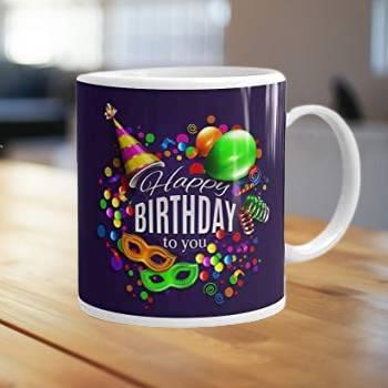 printed birthday mug