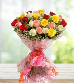 Beautiful Bunch of 24 Mix Roses Bouquet