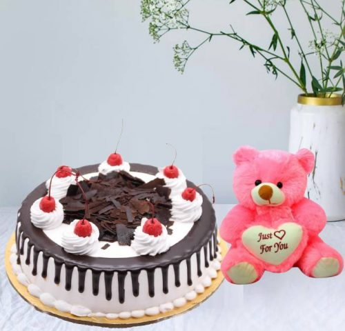 Cake and Teddy Combo